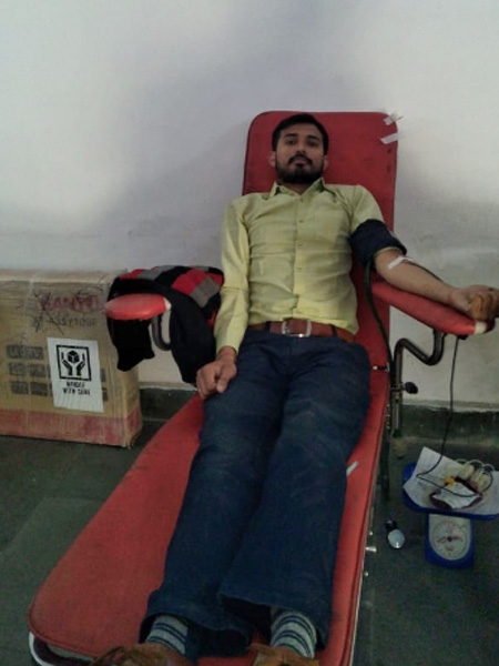 Blood donation camp at Ambuja Cement on dated 05/12/2018